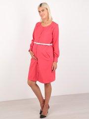 Евромама. Платье для беременных и кормящих с застежкой впереди, коралл