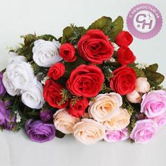 Розы искусственные, букет 7 веток, 32 см.