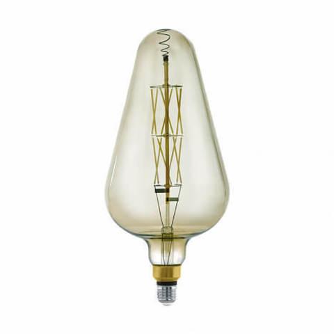 Лампа LED филаментная диммир. дымчатого цвета Eglo BIG SIZE LM-LED-E27 8W 600Lm 3000K D165 11842