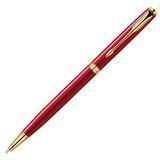 Шариковая ручка Parker Sonnet Slim K439 ESSENTIAL LaqRed GT Fblack (1859473)