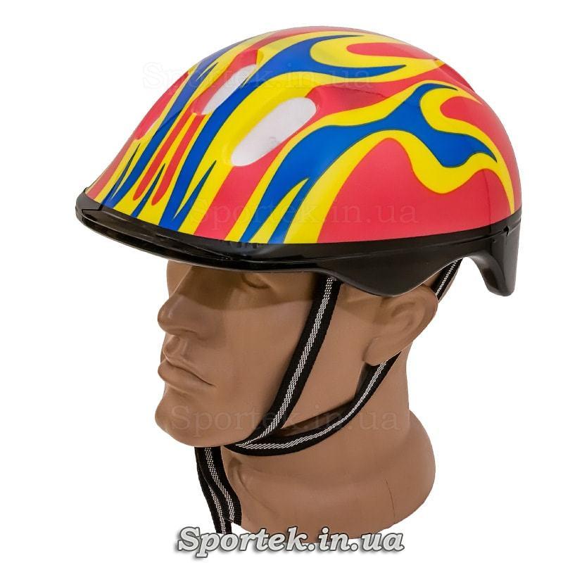 Велосипедный шлем для взрослых и подростков (красно-желто-синий)