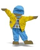 Костюм с бомбером из плащевки - Демонстрационный образец. Одежда для кукол, пупсов и мягких игрушек.