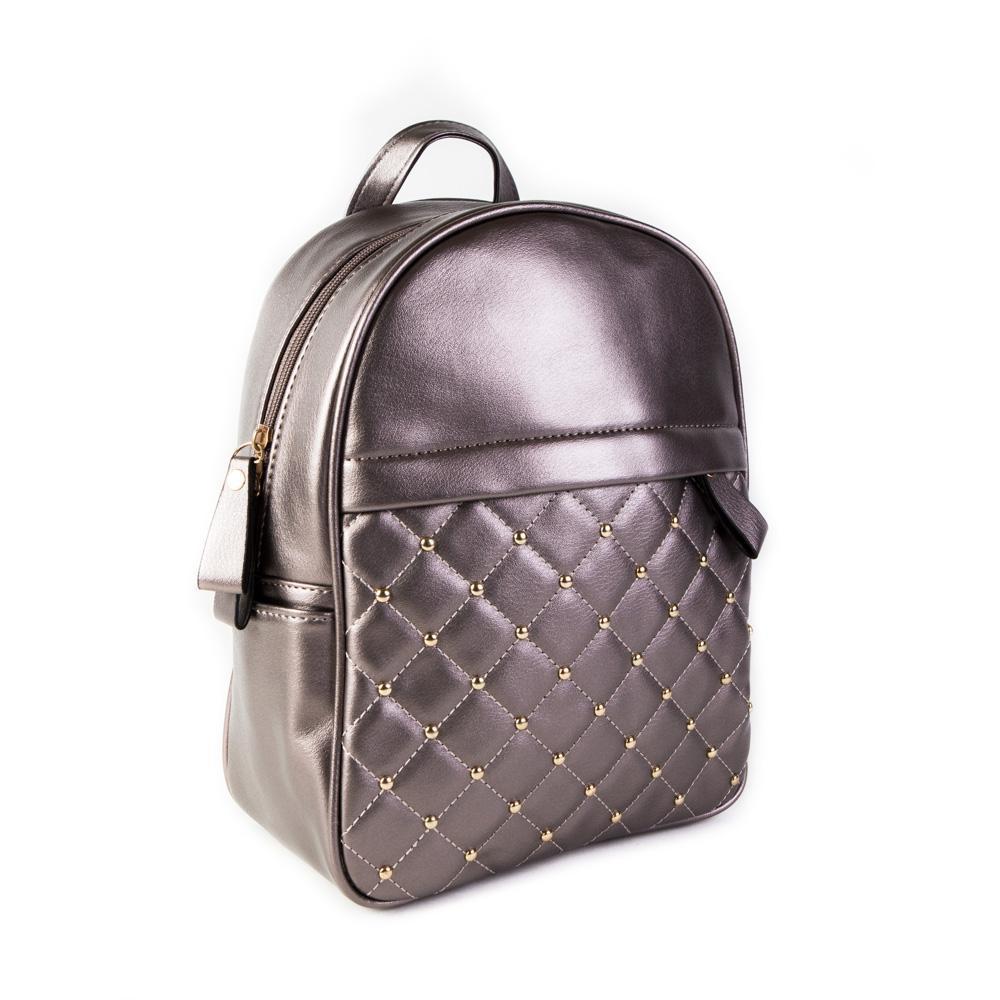 Женский средний рюкзак 23х28,5х12 см бронзовый 4798-2