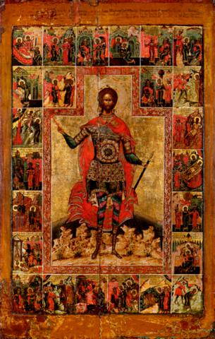 Икона святой великомученик Никита на дереве на левкасе мастерская Иконный Дом