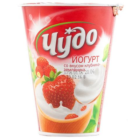 """Йогурт фруктовый """"Чудо"""" клубника, земляника 2,5%, 290 г"""