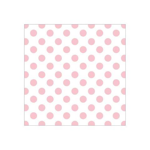 Ацетатный лист с фольгированным рисунком 30 х30 см -Pink Foil Dots