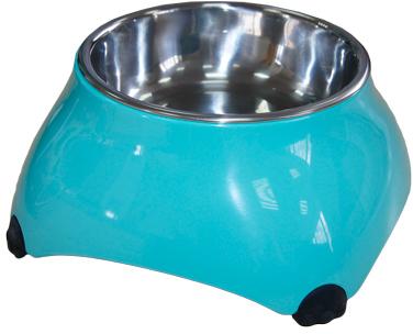 Дом и путешествия Миска меламиновая для собак высокая  160 мл аквамарин, SuperDesign 16033.jpg