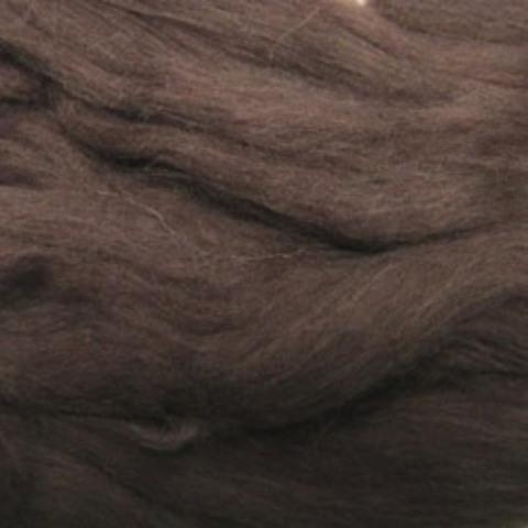 Шерсть для валяния полутонкая 251 коричневый (Пехорка)