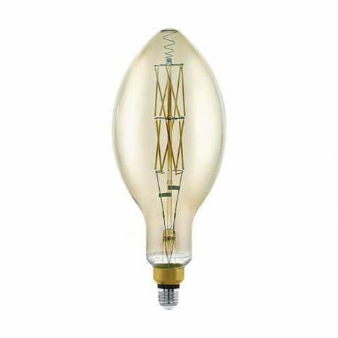 Лампа LED филаментная диммируемая из стекла дымчатого цвета Eglo BIG SIZE LM-LED-E27 8W 600Lm 3000K E140 11843