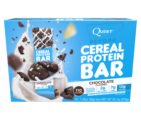Quest Nutrition Cereal Bar Chocolate (Шоколад), 15шт