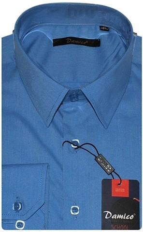 Platin Рубашка для мальчика школьная 3035DFP8 синяя