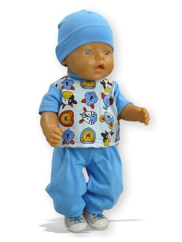 Костюм с бомбером из плащевки - На кукле. Одежда для кукол, пупсов и мягких игрушек.
