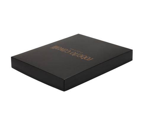 Постельное белье 2 спальное евро Roberto Cavalli Papillon черное