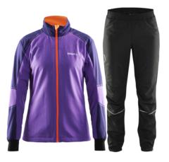Женский разминочный лыжный костюм Craft Touring (1903695-2495-1902831-9999) фиолетовый