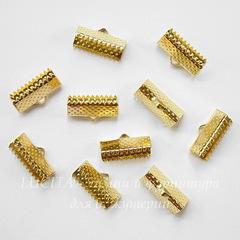 Концевик для лент 16 мм (цвет - золото), 10 штук