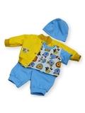 Костюм с бомбером из плащевки - Желтый. Одежда для кукол, пупсов и мягких игрушек.