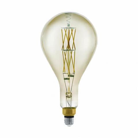 Лампа LED филаментная диммируемая из стекла дымчатого цвета Eglo BIG SIZE LM-LED-E27 8W 600Lm 3000K PS160 11844