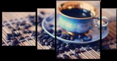 """Модульная картина """"Утренний кофе"""""""