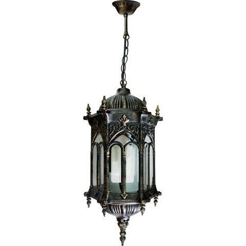 Светильник садово-парковый, 60W 230V E27 черное золото, PL116 (Feron)