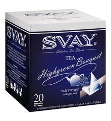 Чай Svay Highgrown Bouquet (Высокогорный букет) черный крупнолистовой цейлонский в пирамидках для чайников (20 пирамидок по 4 гр.)
