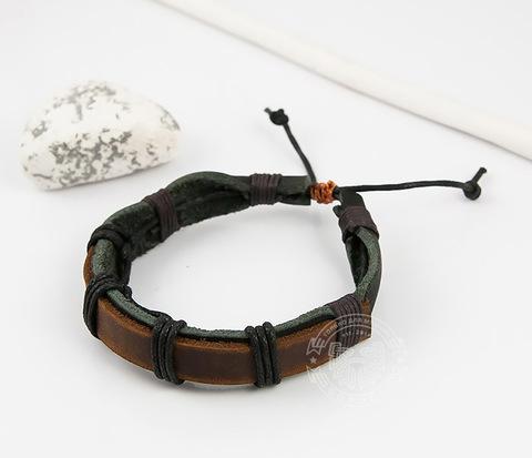 BL448-2 Мужской браслет ручной работы из натуральной кожи