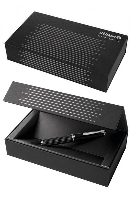 Перьевая ручка Pelikan Souveran M815 Metal Striped Special Edition 2018 (809252)