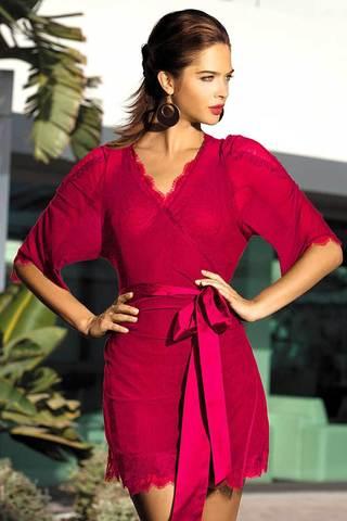 Халат из сетки прекрасно дополнит любую модель из коллекции Lady in red фото