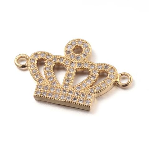 Коннектор Корона c цирконами 25 мм цвет золото