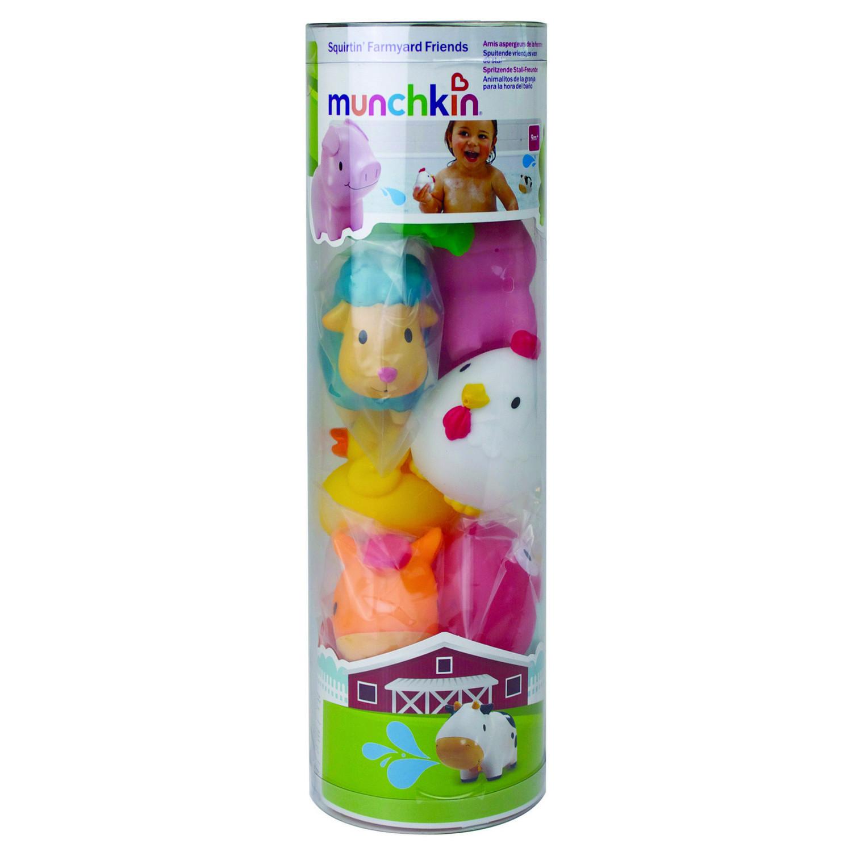 Набор игрушек для ванны Ферма Munchkin Веселые зверята 8 шт. 9+