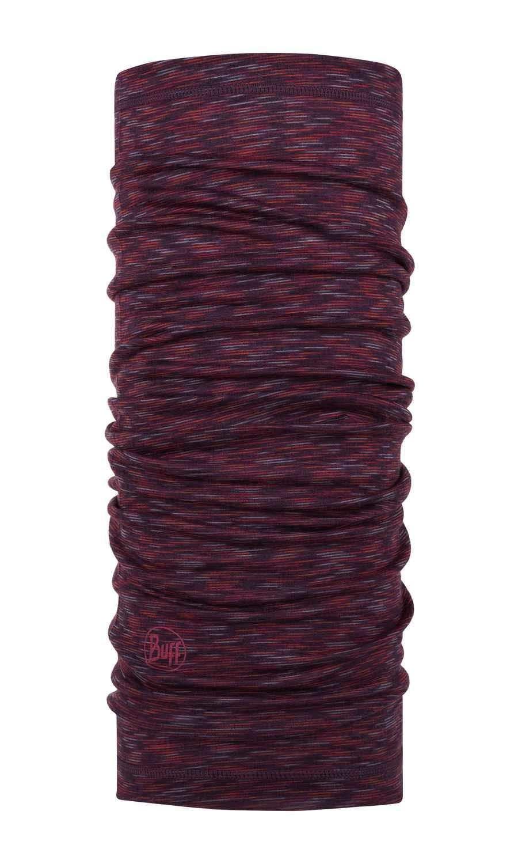 Тонкий шерстяной шарф-труба Buff Wool lightweight Rubi Multi Stripes