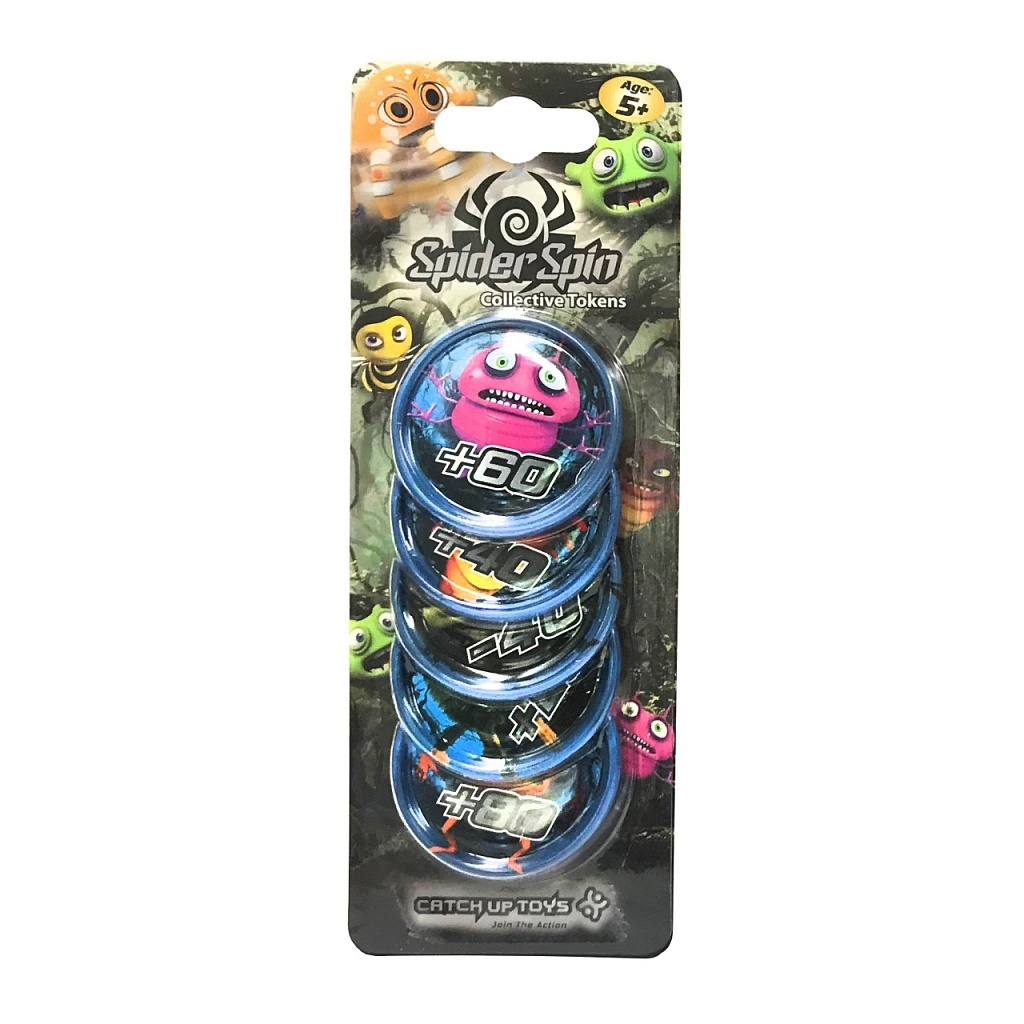 Жетоны CATCHUP TOYS Spider Spin. Collective Tokens (Blue)