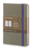 Блокнот Moleskine Limited Blend Pocket 90x140мм обложка текстиль 192стр линейка зеленый (LCBDMM710K)