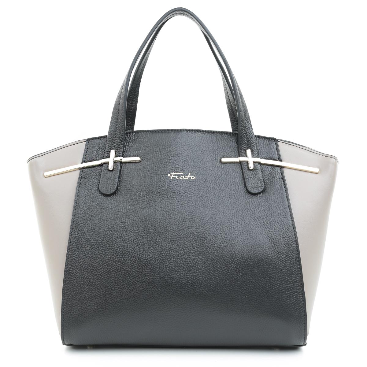 5432 Fiato  кожа черный /серый (сумка женская)