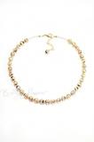 Ожерелье из муранского стекла Арлекино классическое золотистое