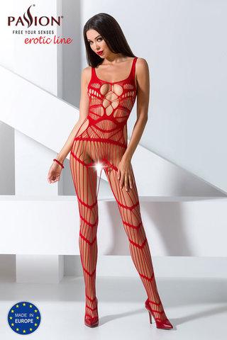 Красный бодистокинг сетка сексуальный