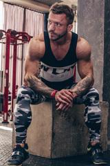 Мужская футболка Nebbia AW Muscle Singlet 723 black