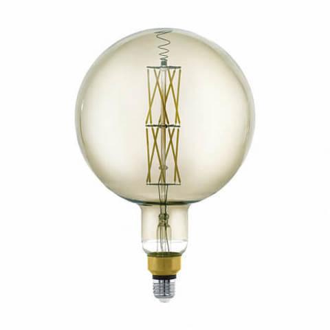 Лампа LED филаментная диммируемая из стекла дымчатого цвета Eglo BIG SIZE LM-LED-E27 8W 600Lm 3000K G200 11845