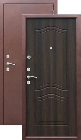 Дверь входная Йошкар Гарда, 2 замка, 1,5 мм  металл, (медь+венге)