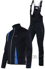 Детский утеплённый лыжный костюм Nordski Active Black-blue 2016