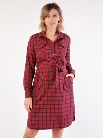 Евромама. Платье-рубашка для беременных и кормящих, бордо