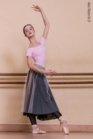 Set: T-leotard + basic rehearsal tulle skirt