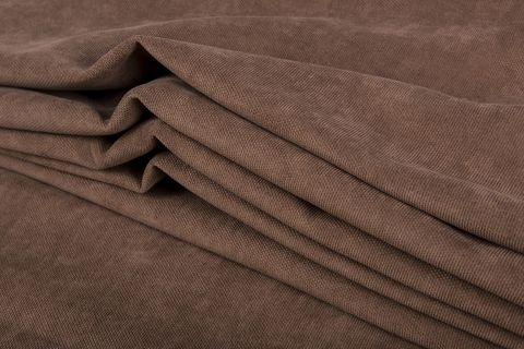 Штора готовая однотонная из портьерной ткани   цвет: бежево-коричневый   размер на выбор