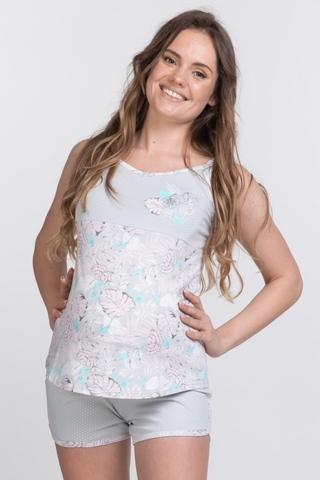 Пижама для беременных и кормящих 10430 серый