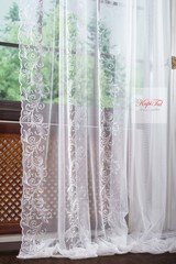 Длинные шторы. Тюль Belle-T французская сетка (белый)