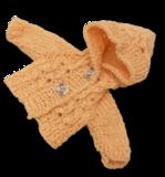 Кофта с капюшоном - Персик. Одежда для кукол, пупсов и мягких игрушек.