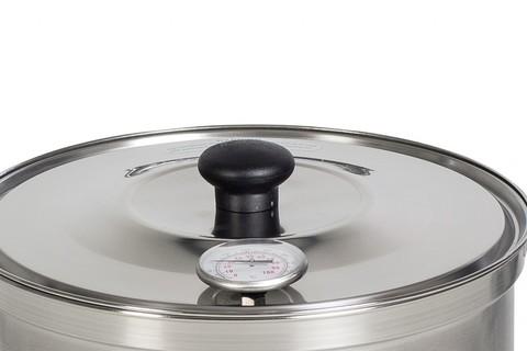 Термометр сыроварни Milky, встроенный в крышку. Фото