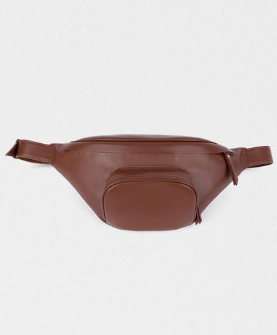 Поясная сумка коричневая
