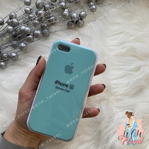 Чехол iPhone 5/5s/SE Silicone Case /sea blue/ бирюза 1:1