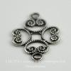 Винтажный декоративный элемент - коннектор (1-1) 17х12 мм (оксид серебра)