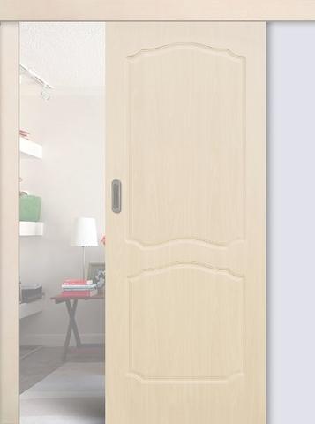 Дверь раздвижная Сибирь Профиль Классика, цвет беленый дуб, глухая